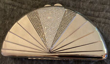 Rare! Vintage Whiting And Davis International Silver Metal Art Deco Crossover.