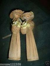 Lot of 2 dolls Corn  Husk  shuck or straw doll
