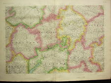 1868 HAND COLOURED MAP ~ HEREFORD WORCESTER GLOUCESTER MONMOUTH WARWICK OXFORD