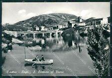 Macerata Fiastra Lago di San Lorenzo al Fiume Barca Foto FG cartolina KF1794