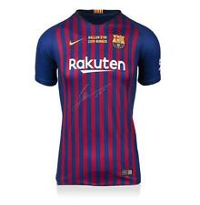 Lionel Messi Official Front Signed FC Barcelona 2018-19 Home Shirt: 2019 Ballon