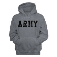 United States Armed Forces Army Star Logo Gray Heather Adult Pullover Hoodie