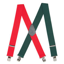 Red/Green Suspenders - 2 Inch Wide