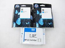 Set of 3 HP Ink Cartridges HP 11 - C4836A Cyan