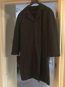 Mans Black Armani Collezioni Overcoat Size 50