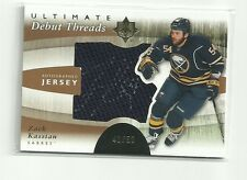 ZACK KASSIAN 2011-12 UD ULTIMATE COLLECTION DEBUT THREADS AUTO JERSEY /50