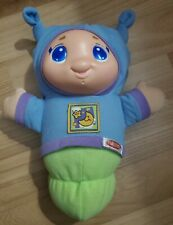 Musical Lullaby Gloworm Glow Worm Blue Plush Light Up Toy Playskool 2011