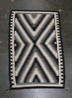 "Fine Navajo Rug  Two Gray Hills - Natural Eye Dazzler  c.1960    87"" x 45"""
