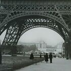 Vintage Eiffel Tower Paris Photograph Large B&W France Picture Art Ed Hubley