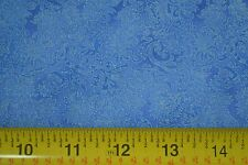 By 1/2 Yd, Blue on Blue Print, Quilting Cotton, JoAnn, M7323