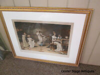 """56762 Maude Goodman Framed Lithograph  """"WHEN THE HEART IS YOUNG"""""""
