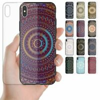 For Huawei Series Mandala Pattern Tempered Glass Back Case Mobile Phone Cover #2