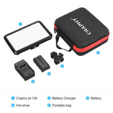 12W LED Videoleuchte Touch Control Fotoleuchte Dimmbar für Canon Nikon Camcorder