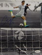 Carli Lloyd Autographed *Blue Team USA 8x10 Dual Shot Photo- JSA Witnessed Auth