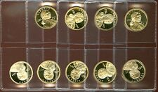 2000, 2001-2008, S GEM PROOF DCAM SACAGAWEA GOLDEN DOLLARS 9 coin set