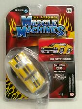 Rare The Original Muscle Machines Series 5 1969 Chevy Chevelle Chase Yellow
