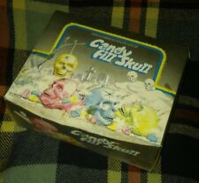 Rare Vintage Halloween Skull Candy Container FULL DISPLAY BOX Fill w candy insid