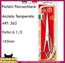"""FORBICI PARRUCCHIERE PER CAPELLI IN ACCIAIO TEMPERATO DA 6,5"""" 165 mm DE LUCA"""