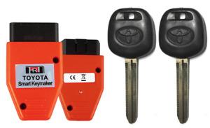 2 Toyota 44D Transponder Key + OBD2 Quick Reset Tool (4D Key Installer) A+++