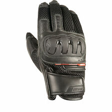 Nitro NG-70 Leather TPU Knuckle Glove Motorcycle Motorbike Bike Road Black T
