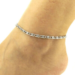 Stainless Steel Anklets T and CO Chain Ankle Bracelet 4 mm 8--11inch