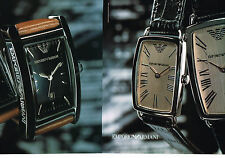 PUBLICITE ADVERTISING 075  2001  les montres EMPORIO ARMANI  ( 2 pages)