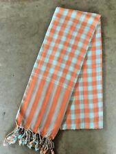 Krama ORANGE traditionnel Echarpe Khmère en coton Tissé scarf Cambodge 113