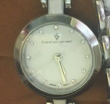 Christian Van Sant Women's CV5610 Analog Display Quartz Two Tone Watch