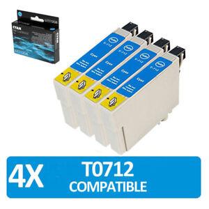 4x cyan non-oem ink cartridges  T0712