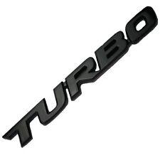 BLACK TURBO LETTER ENGINE RACE MOTOR SWAP EMBLEM BADGE FOR TRUNK HOOD DOOR