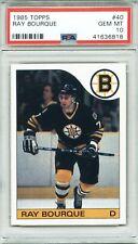 1985 Topps #40 Ray Bourque PSA 10 GEM MT Boston Bruins LOW POP 1 of 8 HOF BEAUTY