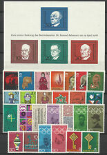 WEST GERMANY 1968 COMPLETE YEAR STAMP COLLECTION 26v & 1 S/Sheet MNH