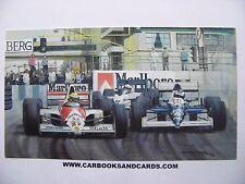MICHAEL TURNER CARD FORMULA 1 GP : ALESI / TYRRELL  & SENNA / McLAREN HONDA F1
