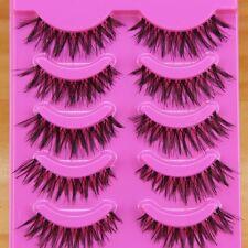 5 pair Natural clear band False eyelashes Winged eye lashes Daily eyelashes ZE1