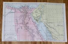 1909 ANTIQUE HISTORICAL MAP OF ANCIENT EGYPT / SINAI / AEGYPTUS