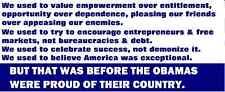 Anti Obama Conservative GOP Political Bumper Sticker
