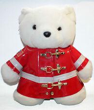 Vtg Santa Bear Plush Stuffed Animal 1996 Dayton Hudson Firefighter Macys Jacket