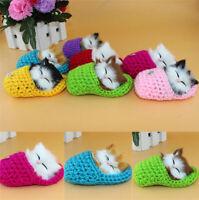 Cute Slipper Kitten Soft Plush Doll Toys Sound Stuffed Animal Baby Kids Gift A