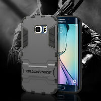 For Samsung Galaxy S6 Edge NEW Armor Frame Protective Bumper Case Stand Cover