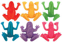 6 Stretchy Frogs - Pinata Toy Loot/Party Bag Fillers Wedding/Kids