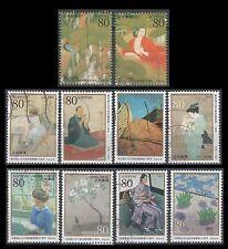 Japan 3427a-j Modern Art  (10 USED Stamps)