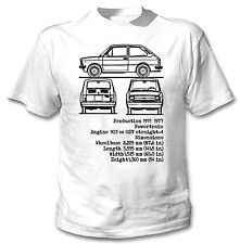 FIAT 127 INSPIRED - NEW WHITE COTTON TSHIRT