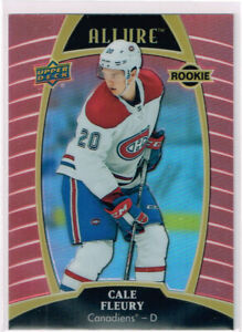 2019-20 UD Allure Sunset E-Pack Rookie #95 Cale Fleury - Montreal Canadiens