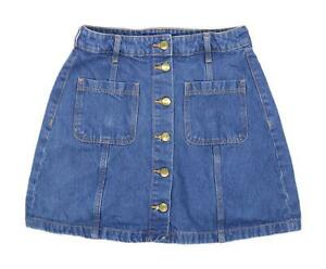H&M Womens Size 10 Denim Blue Skirt (Regular)
