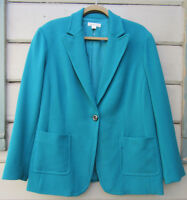 Coldwater Creek Aquamarine Cosmopolitan Crepe Jacket Wms 18 NWT $119