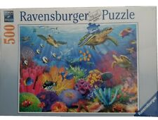 Ravensburger Jigsaw Puzzle 500 Pieces Tropical Waters No. 146611 Turtles Fish