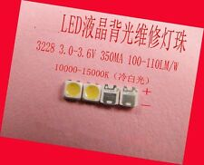 50 Pieces/lot LEDs for samsung 3228 3V 1W 350MA,Cool white light,repair TV LED
