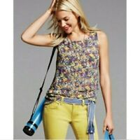 Cabi #5041 •Women S• Positano Floral Layered Tank Top Blouse