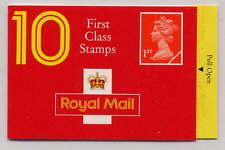 Gb 1990 10 x 1st Class Barcode Booklet Hd5b