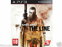 SPEC OPS THE LINE + DLC FUBAR PACK  playstation 3  nuovo scatola e manuale ita